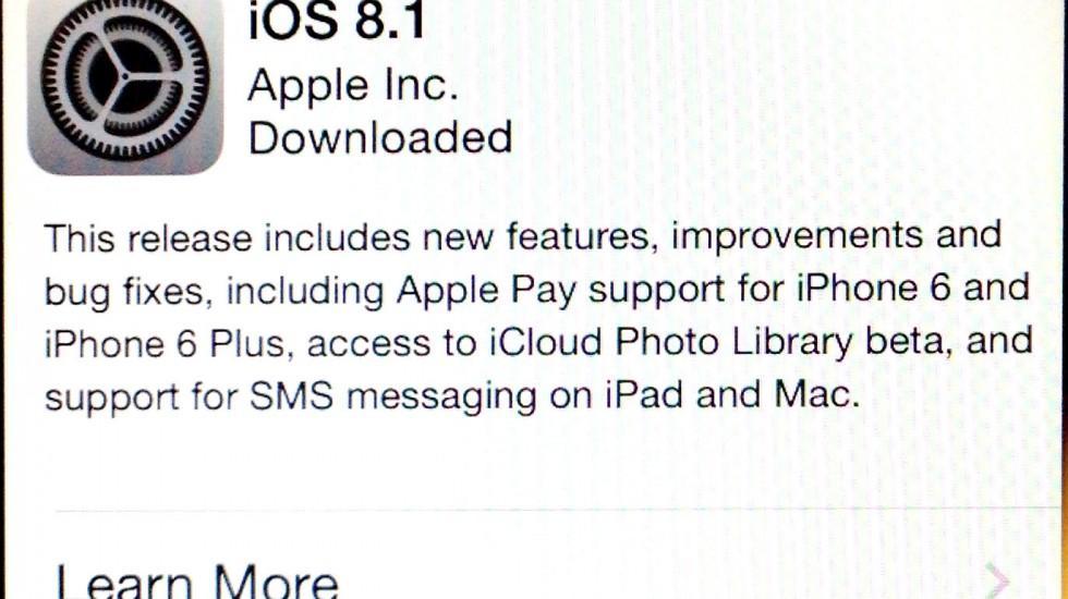 iOS8 Update