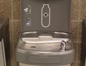 Water filters added to drinking fountains